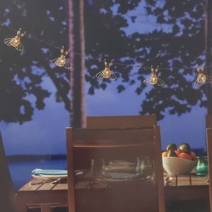 NIB Solar Bee String Lights Porch / Patio 🐝